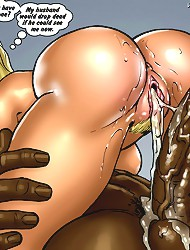 dirty comics with blond cheerleader�s asshole fucked by BBC